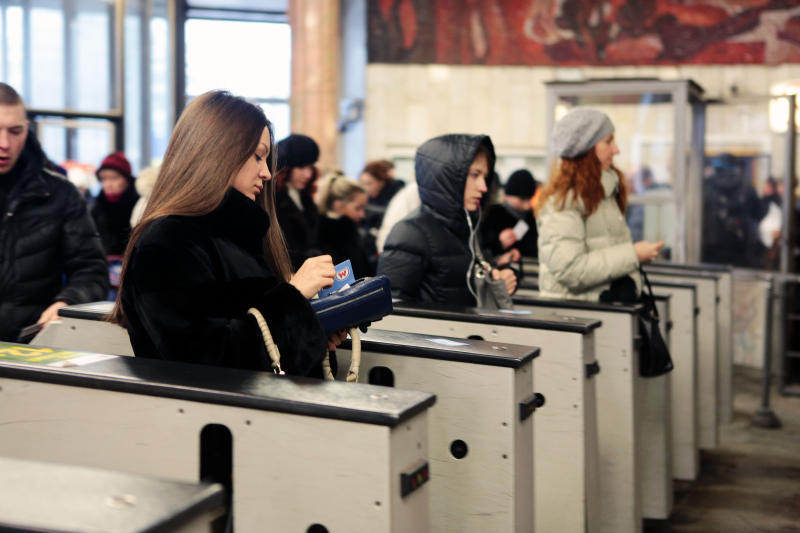 Оплата метро с помощью телефона через NFC